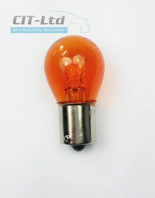 Car Light Incandescent Bulb P21w 382 Ba15s 24v 21w Glass Amber 24v Truck Bulbs