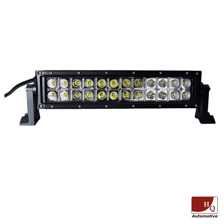 led work light bar 4x4 off road atv truck quad flood lamp 13 7 72w. Black Bedroom Furniture Sets. Home Design Ideas