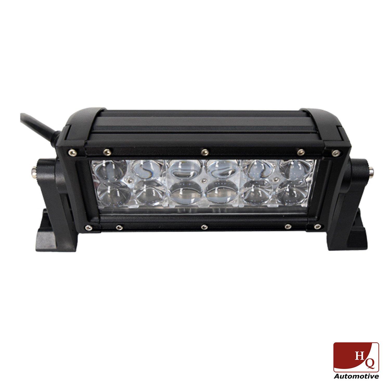 led work light bar 4x4 off road atv truck quad flood lamp 8 36w 12x. Black Bedroom Furniture Sets. Home Design Ideas