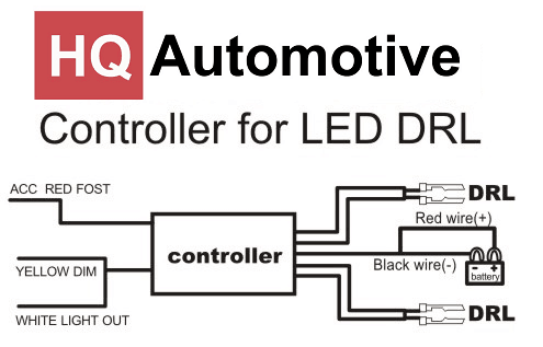 Drl Day Lights Relay Switch Controller Wiring Harness Multifunction On Off Dimm Drl Lights