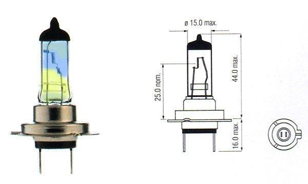 Halogen Bulb H7 Rainbow 12v 100w Standard Car Bulbs