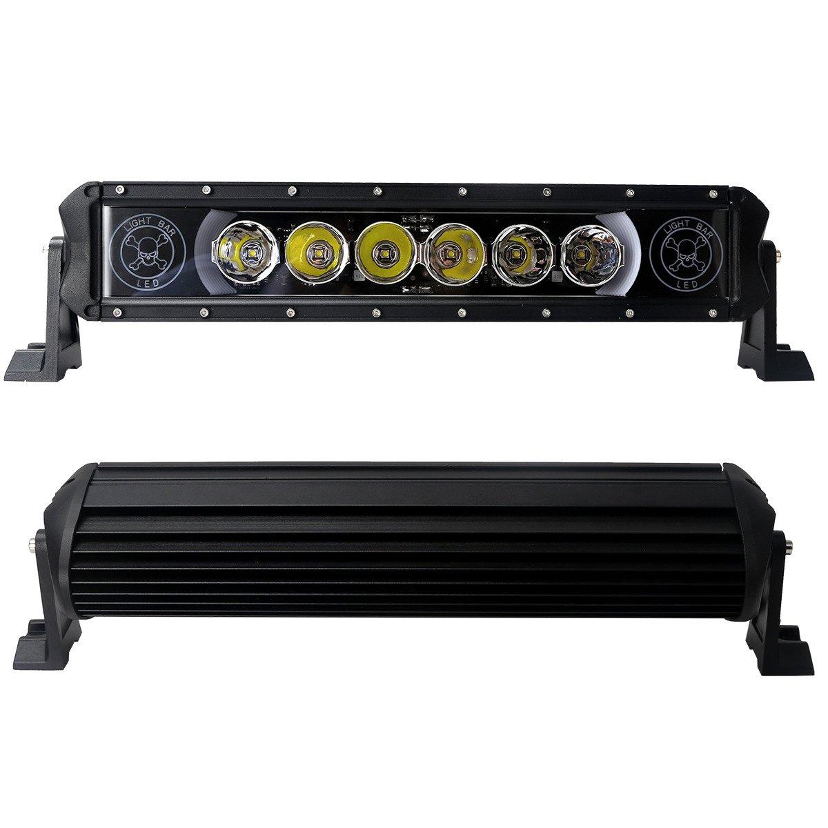 led work light bar 4x4 off road atv truck quad flood lamp 16 5 60w 6x 10w led lb i 60w drl. Black Bedroom Furniture Sets. Home Design Ideas