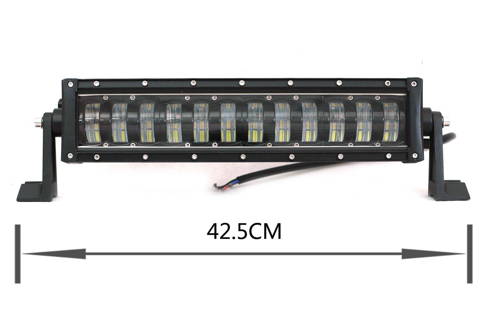 led work light bar 4x4 off road atv truck quad flood lamp 16 7 96w cree led lb j 96w drl. Black Bedroom Furniture Sets. Home Design Ideas