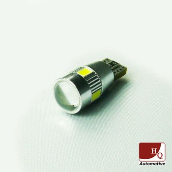 Car LED Bulb W5W 501 (T10) 6x SMD-5630 with lens CanBus WHITE