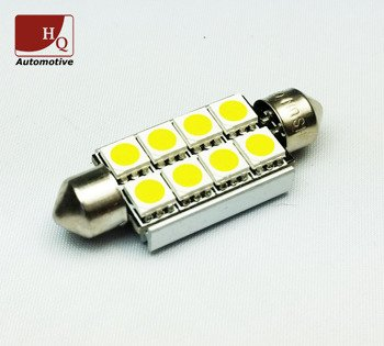 Car LED Light Bulb C10W 8x  SMD-5050 Festoon 42mm CanBus RED