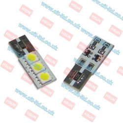 G2-W5W (501) 3 LED Bulb SMD-5050 CanBus RED