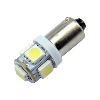H6W/BAX9s 5 LED Bulb SMD-5050 YELLOW
