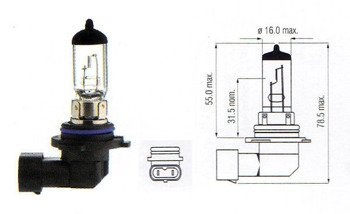 Halogen Bulb HB4 Clear 12V 100W
