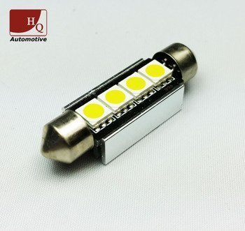 LED Car Light Bulb C10W 4x  SMD-5050 Festoon 42mm CanBus YELLOW