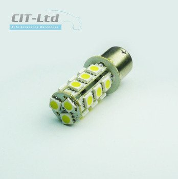 P21W PY21W  LED Car Light Bulb 18x SMD-5050 YELLOW