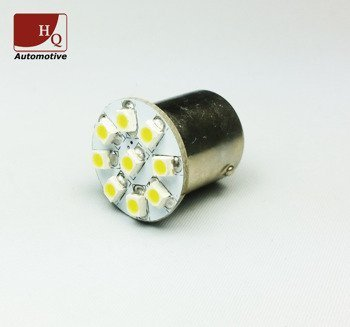 R5W R10W BA15s 9 LED Bulb SMD1210 YELLOW