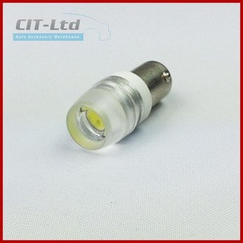 T4W/BA9S 1.5W HP Car LED Bulb with lens WHITE