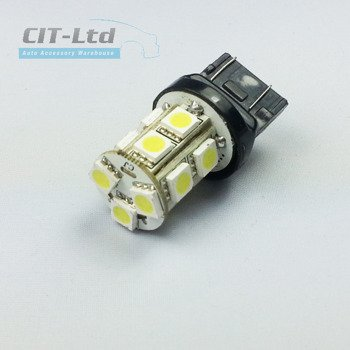 W21/5W (7443) 13 LED Bulb SMD-5050 A YELLOW