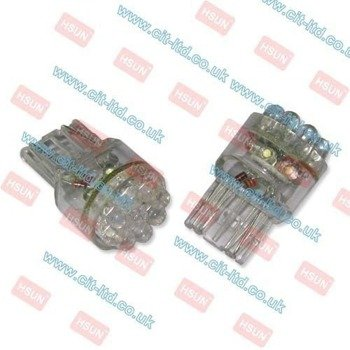 W21/5W LED Car Bulb 15x LED round led BLUE