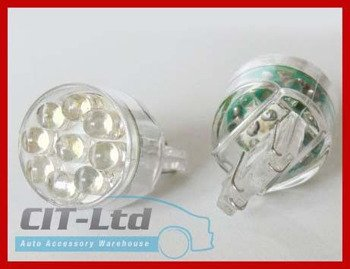 W21/5W LED Car Bulb 15x LED round led YELLOW