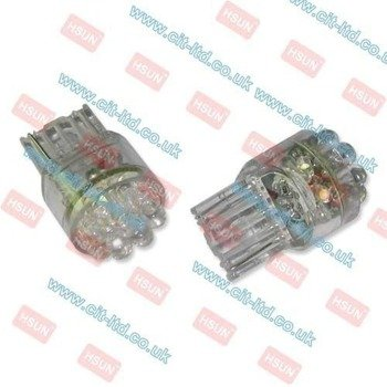 W21W LED Car Bulb 15x LED round led RED