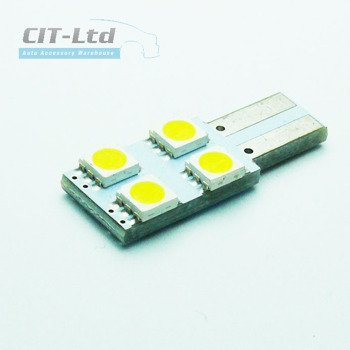 W5W (501) T10 4 LED Bulb SMD-5050 B CanBus YELLOW