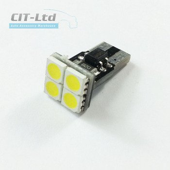 W5W (501) T10 4 LED Bulb SMD-5050 D CanBus BLUE
