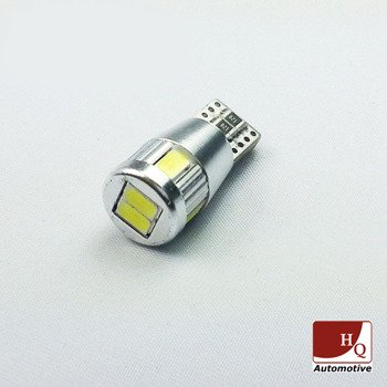 W5W 6-LEDs SMD-5630 Car LED Bulb Car Light Bulb CanBus WHITE