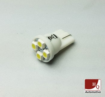 W5W (T10) 4 LED Bulb SMD1210 YELLOW